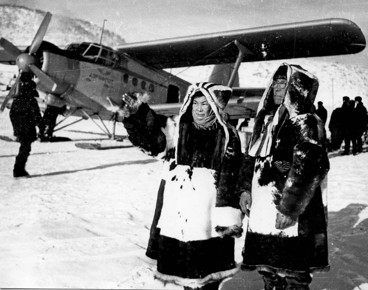 Музей , Ан-2 , коряки в Палане , начало 60-х..jpg