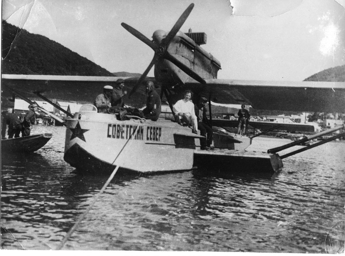 Первый гидросамолет на Аваченской губе 1928г..jpg
